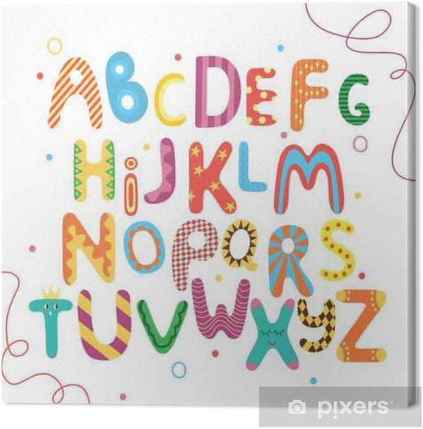 Tableau sur toile ABC lumineux pour les enfants - Ressources graphiques