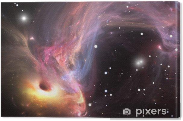 Tableau sur toile Absorbant le gaz et la poussière du monde lourd trou noir - Thèmes