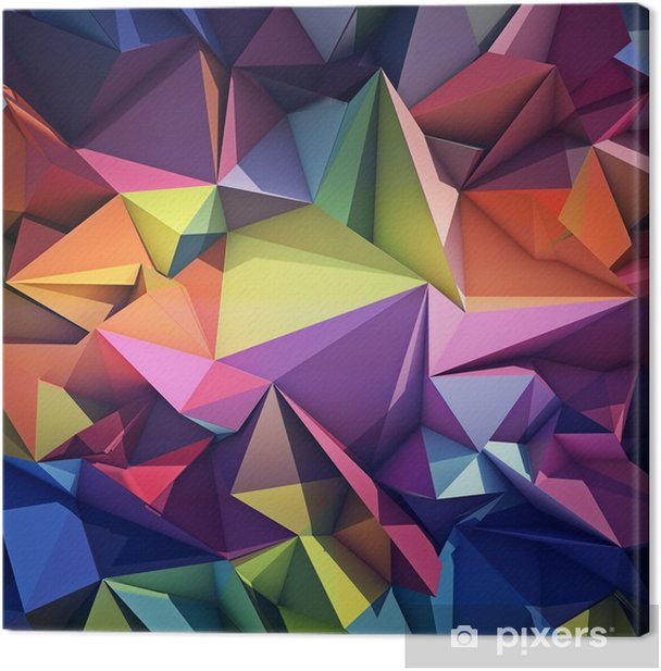 Tableau sur toile Abstract geometric background -