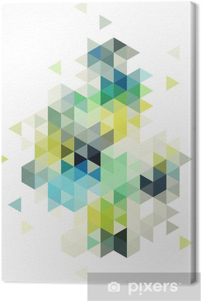 Tableau sur toile abstract low poly background, vector - Abstrait