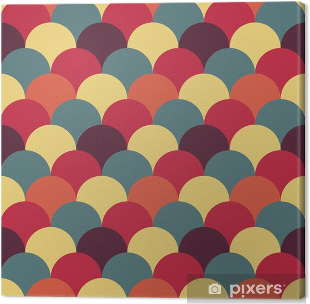 Tableau sur toile Abstract retro geometric pattern - Abstrait