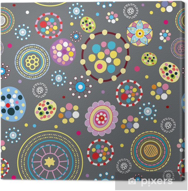 Tableau sur toile Abstract seamless pattern. Vector illustration. - Arrière plans