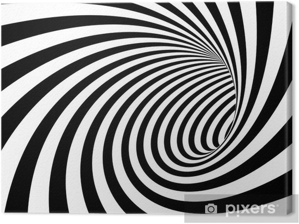 Tableau sur toile Abstract tunnel - Émotions et sentiments