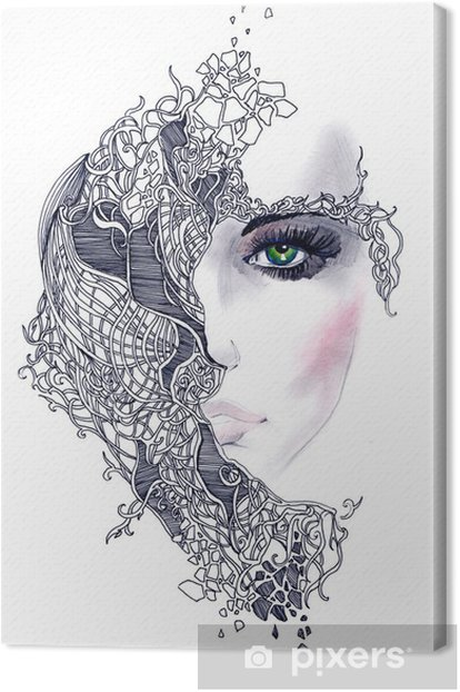 Tableau sur toile Abstract woman face - Styles