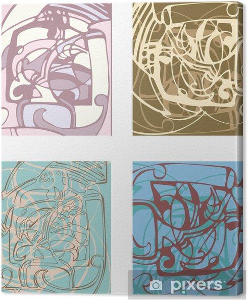 Tableau sur toile Abstrait arrière-plan sur la base de formes stylisées. - Vie