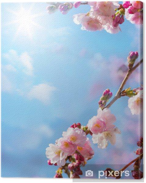 Tableau sur toile Abstrait de fleurs de printemps - Thèmes
