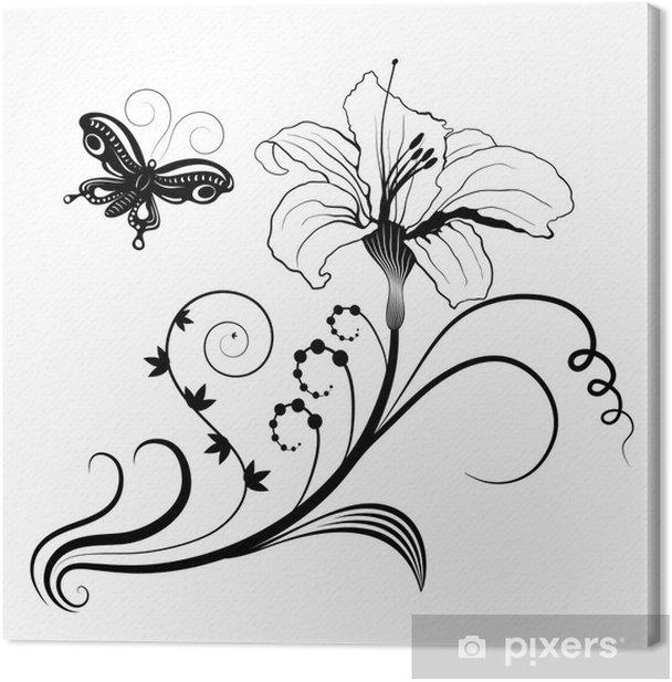Tableau sur toile Abstrait design floral - Fleurs