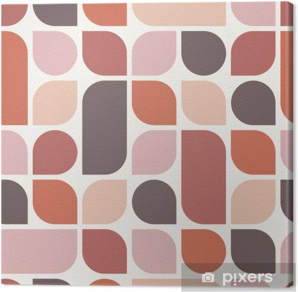 Tableau sur toile Abstrait géométrique boho. modèle sans couture marron. illustration vectorielle - Ressources graphiques