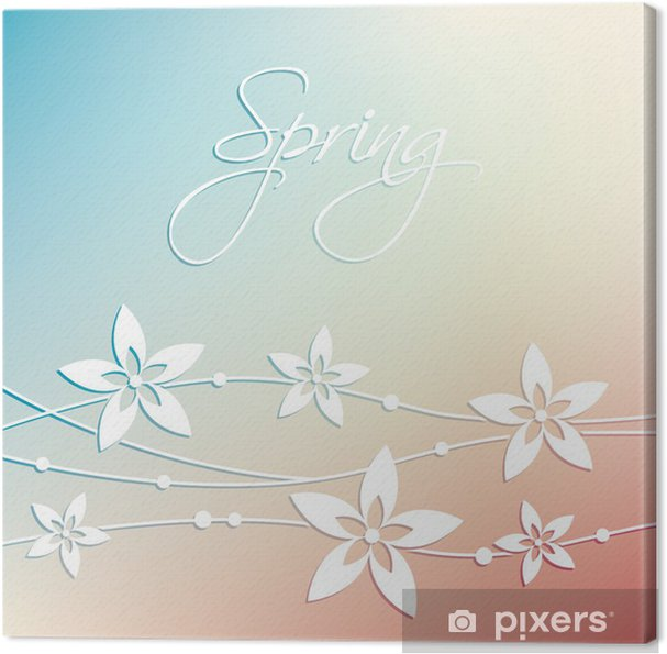 Tableau sur toile Abstraite printemps Fleur de fond - Saisons