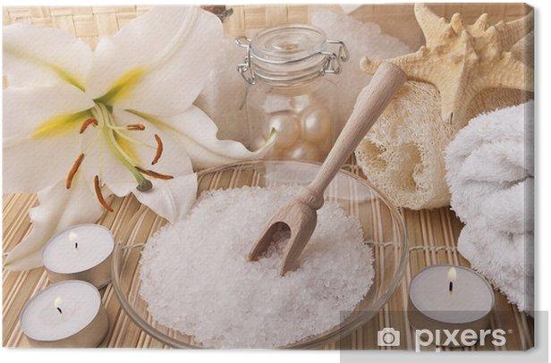 Tableau sur toile Accessoires de bain - Beauté et soins du corps