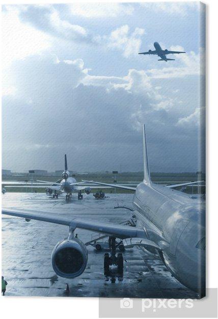 Tableau sur toile Aérodrome - Dans les airs