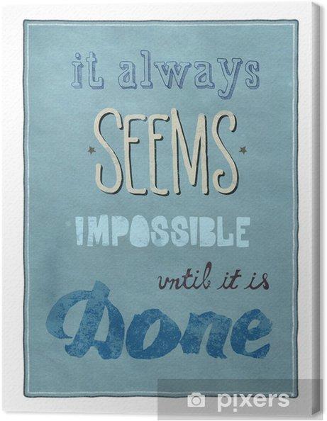 Tableau sur toile Affiche de motivation - Concepts