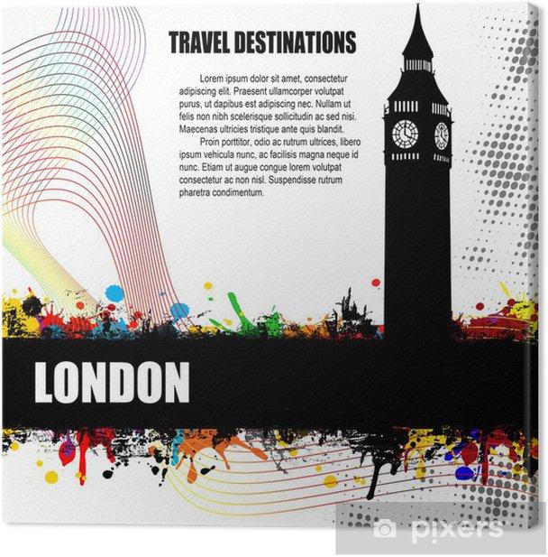 Tableau sur toile Affiche grunge Londres - Arrière plans