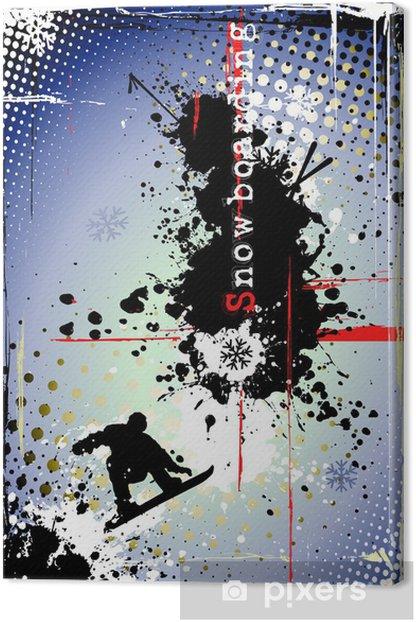 Tableau sur toile Affiche snowboard sale - Sports individuels