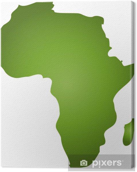 Tableau sur toile Afrika im Umriss - Arrière plans