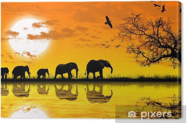 Tableau sur toile Afrique - Thèmes