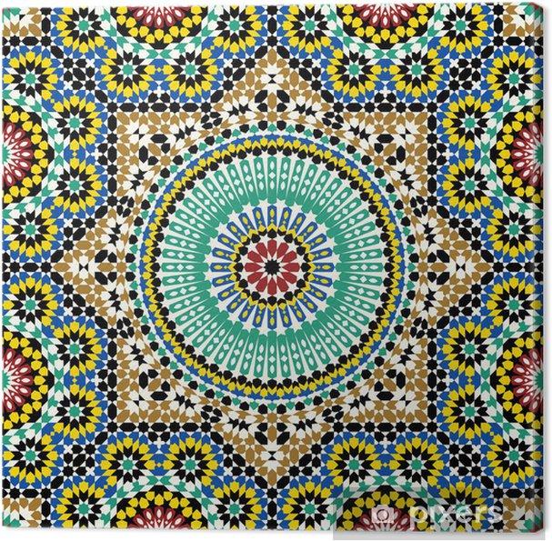 Tableau sur toile Akram Maroc Motif Cinq - Maroc