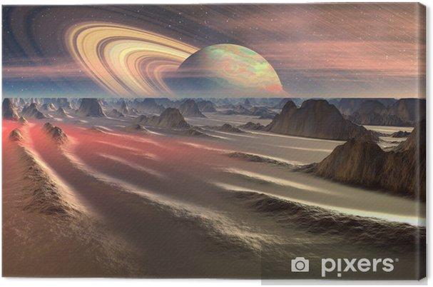 Tableau sur toile Alien Planet - 3D, rendu illustration d'ordinateur - Espace