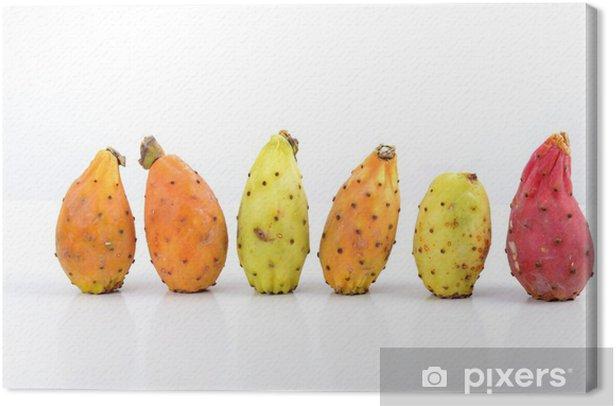 Tableau sur toile Alignées 6 Figues de Barbarie - Carte Postale - Repas
