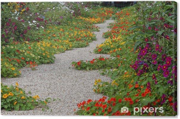 Tableau sur toile Allée centrale du jardin de Claude Monet (Giverny ...