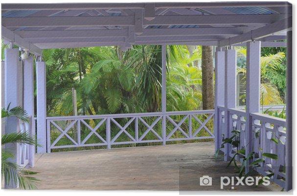 Tableau sur toile Allée couverte Dans un Jardin exotique • Pixers ...