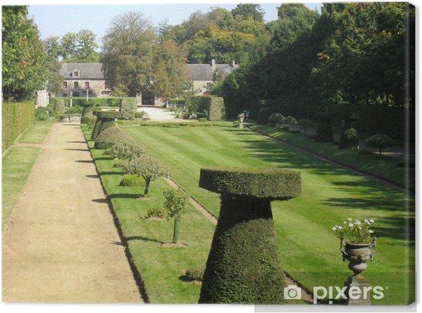 Tableau sur toile Allée d\'un jardin à la française