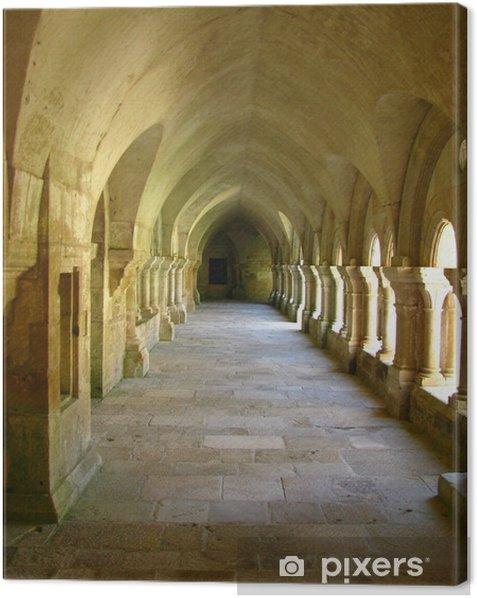 Tableau sur toile Allée du cloître à l'abbaye de Fontenay - Religion