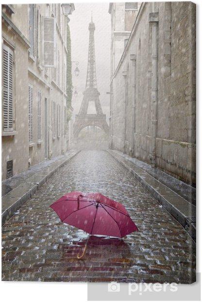Tableau sur toile Allée romantique sur un jour de pluie. - Thèmes