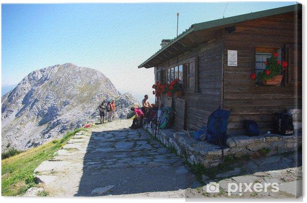 Tableau sur toile Alpi Apuane: Rifugio Alpino E. Rossi - Montagne