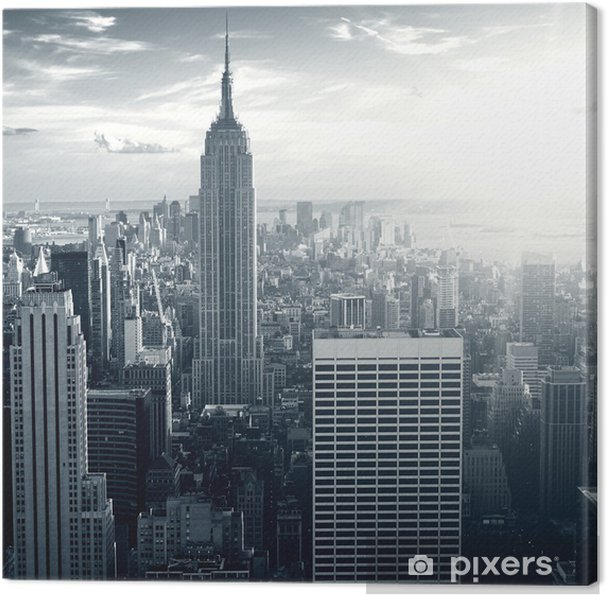 Tableau sur toile Amazing view to New York Manhattan at sunset - Thèmes
