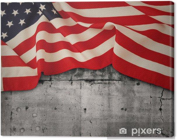 Tableau sur toile American flag - Thèmes