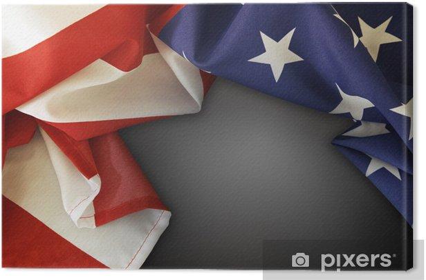 Tableau sur toile American flag - Signes et symboles