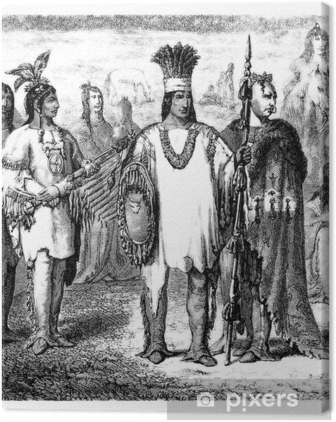 Tableau sur toile Amérindiens - Amérique