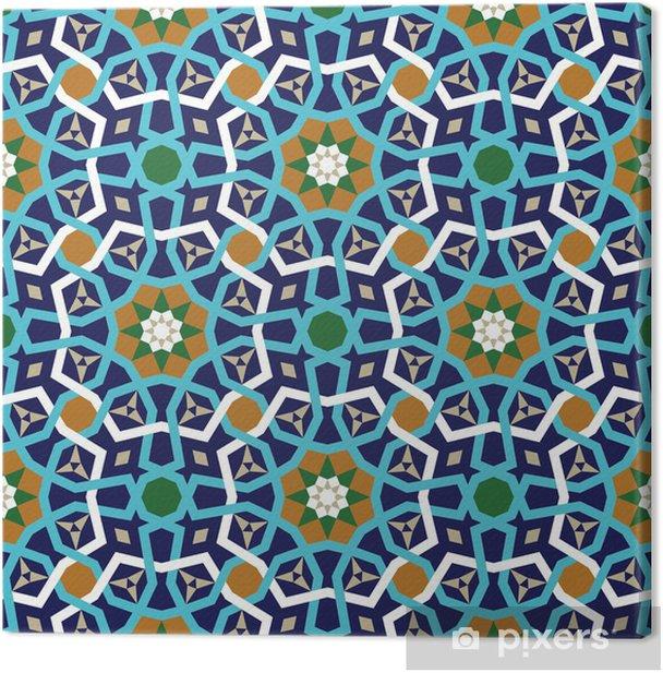 Tableau sur toile Amol Seamless Pattern Deux - Moyen Orient