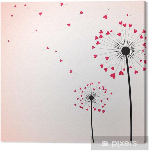 Tableau sur toile Amour de fond - Arrière plans
