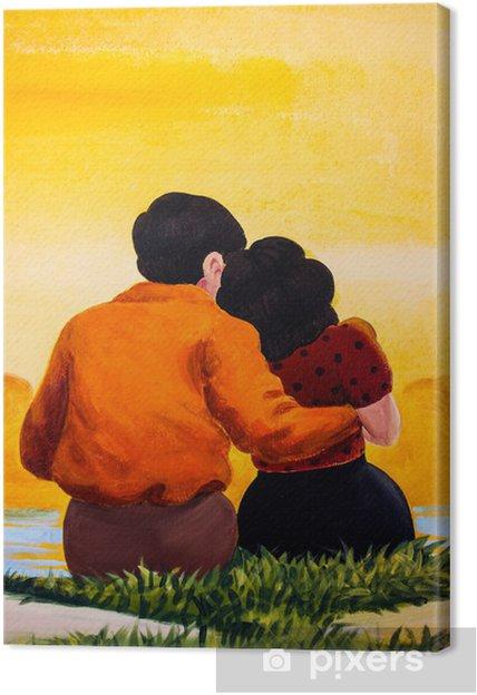 Tableau sur toile Amour de l'art - Art et création