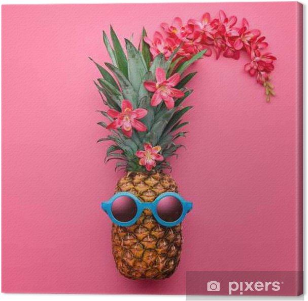 Tableau Sur Toile Ananas Fruit Fashion Hipster Vibes Chaudes De