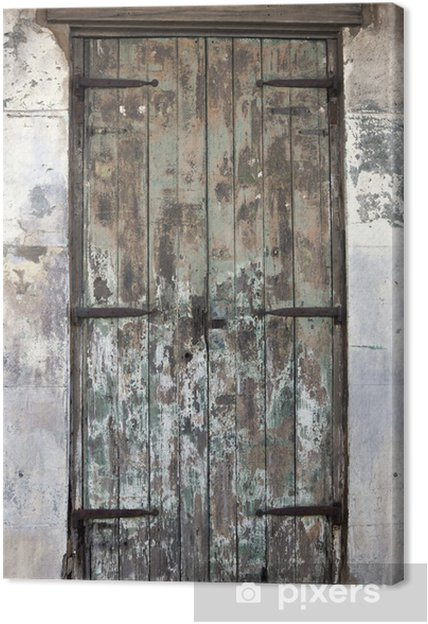 Tableau sur toile Ancien porte dans le quartier français - Industrie lourde
