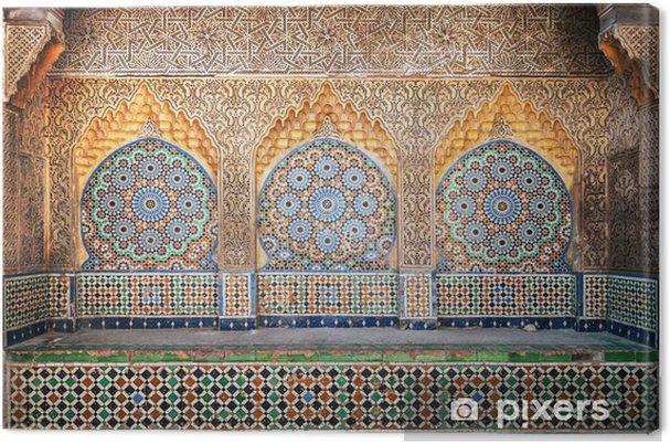 Tableau sur toile Ancienne arabe niche avec de la mosaïque à Médine. Tanger, Maroc - Afrique