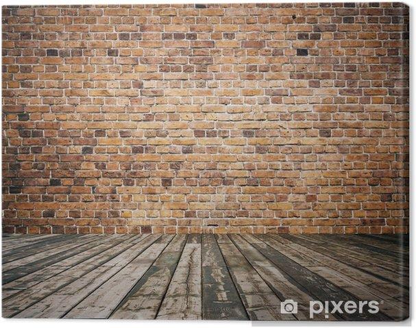 tableau sur toile ancienne chambre avec mur de brique pixers nous vivons pour changer. Black Bedroom Furniture Sets. Home Design Ideas