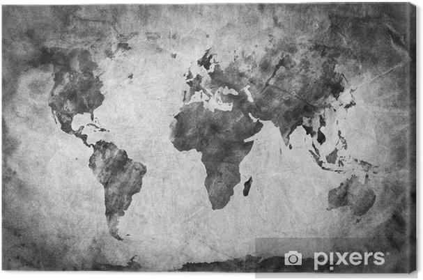 Tableau sur toile Ancienne, vieille carte du monde. Un croquis, grunge vintage background - Thèmes