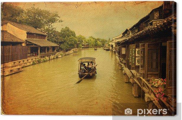 Tableau sur toile Ancienne ville d'eau de Wuzhen, Chine. - Thèmes