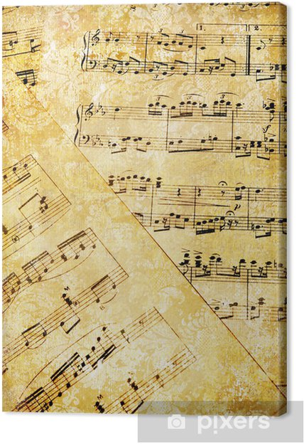 Tableau sur toile Anciennes pages musicales - Styles