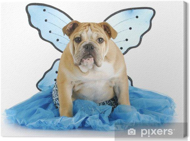 Tableau sur toile Ange de chien - Fêtes internationales