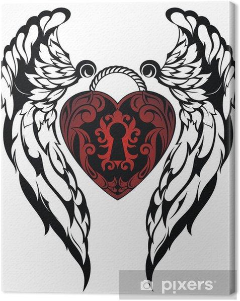 Tableau sur toile Ange wings.Love tatouage - Fêtes internationales