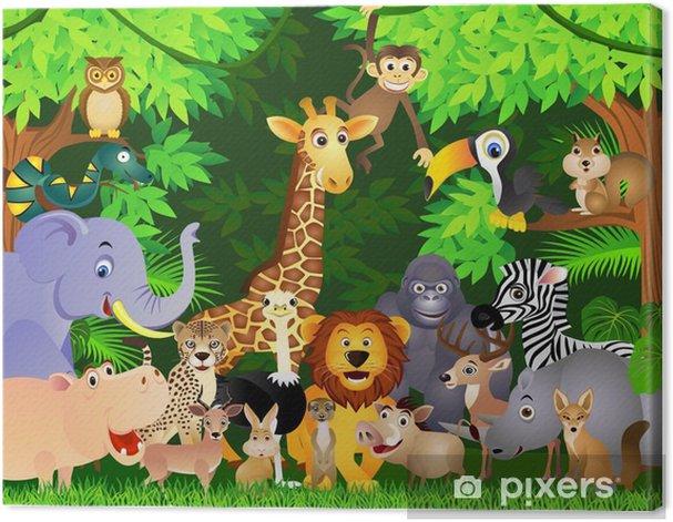 Tableau sur toile Animal cartoon - Pour élève