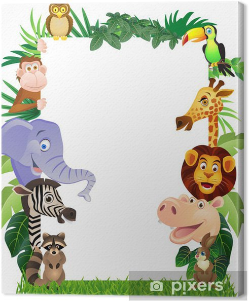 Tableau sur toile Animal cartoon - Animaux marins