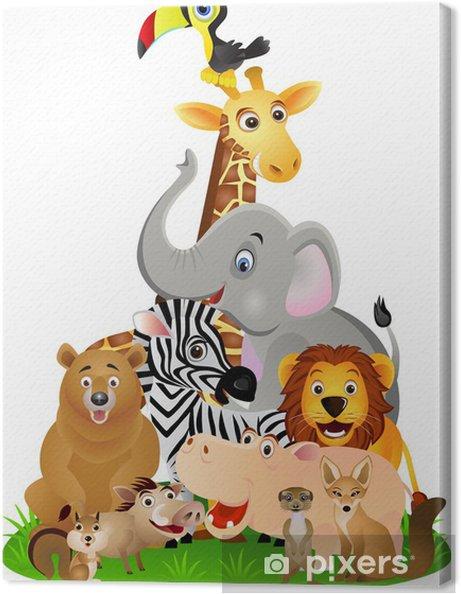 tableau sur toile animal cartoon pixers nous vivons. Black Bedroom Furniture Sets. Home Design Ideas