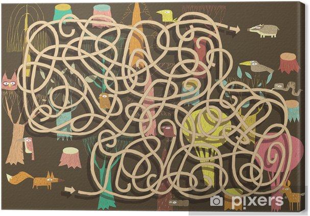 Tableau sur toile Animaux Maze Game. Solution dans la couche cachée! - Autres sentiments