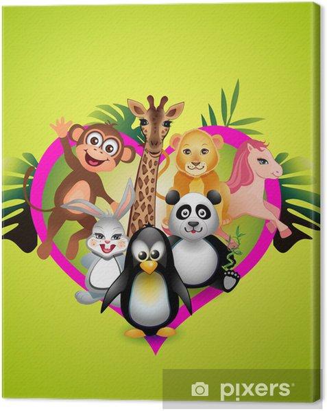 Tableau sur toile Animaux mignons de bébé - Pour enfant de 5 ans